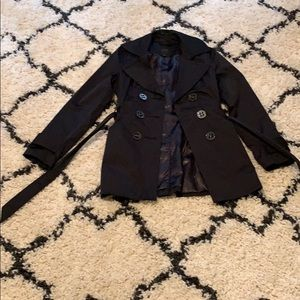 Women's Express Black Trench Coat - size XS
